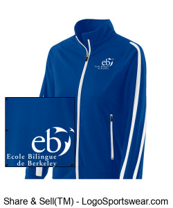 Ladies Blue Jacket Design Zoom