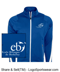 Men Blue Jacket Design Zoom